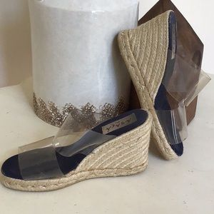 Clear platform heels!! Sz 7